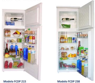 Frigorificos con congelador FRIOBAT, serie dos puertas, FCDP